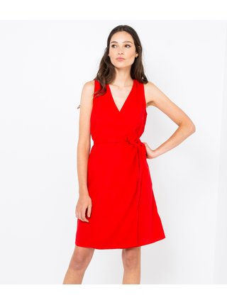 červené zavinovací šaty CAMAIEU