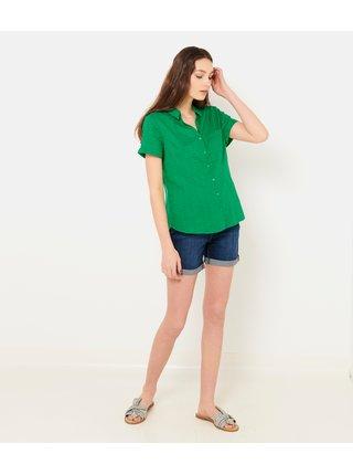 Zelená kostkovaná košile CAMAIEU