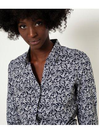 Čierna vzorovaná košeľa CAMAIEU