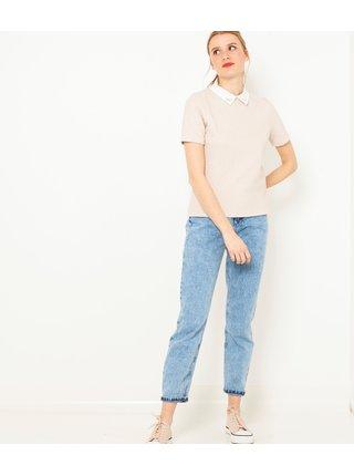 Tričká s krátkym rukávom pre ženy CAMAIEU - telová