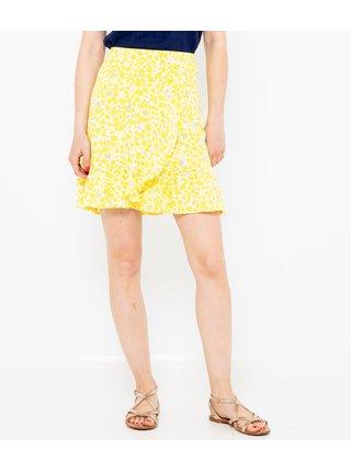 Žlutá vzorovaná sukně CAMAIEU