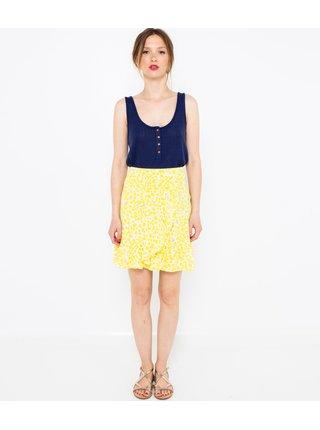 Žltá vzorovaná sukňa CAMAIEU
