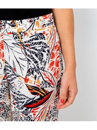 Červeno-bílé vzorované široké kalhoty CAMAIEU