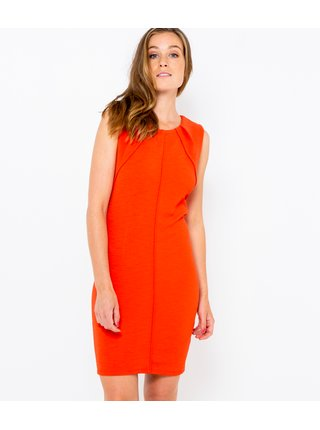 Oranžové púzdrové šaty CAMAIEU