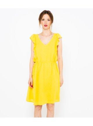 Šaty na denné nosenie pre ženy CAMAIEU - žltá