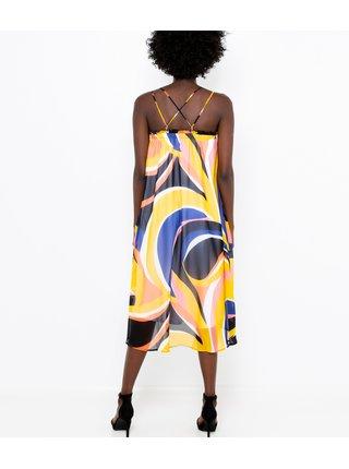Letné a plážové šaty pre ženy CAMAIEU - modrá, žltá