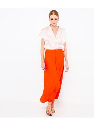 Oranžová propínací maxi sukně CAMAIEU
