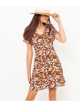 Šaty na denné nosenie pre ženy CAMAIEU - hnedá