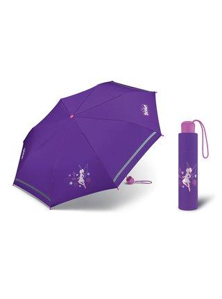 Scout Víla dívčí skládací reflexní deštník - Fialová