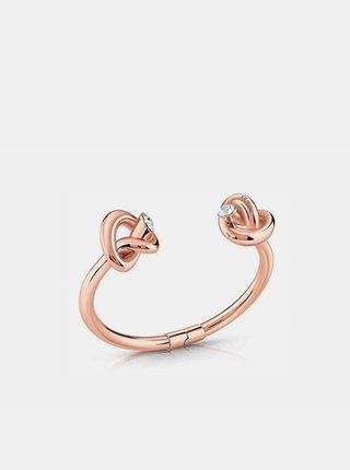 Dámský náramek v růžovozlaté barvě Guess Knot