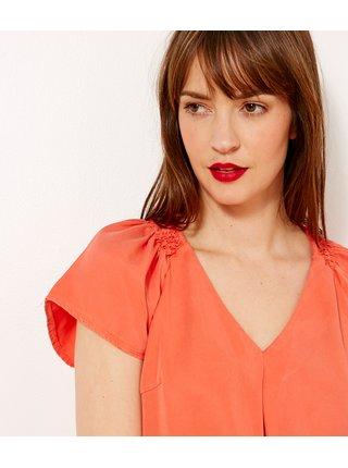 Blúzky pre ženy CAMAIEU - oranžová