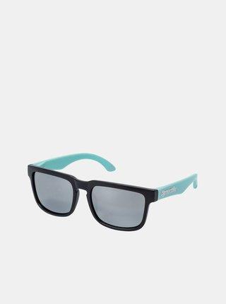 Čierno-tyrkysové pánske slnečné okuliare Meatfly Memphis