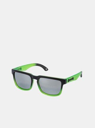 Černo-zelené pánské sluneční brýle Meatfly Memphis