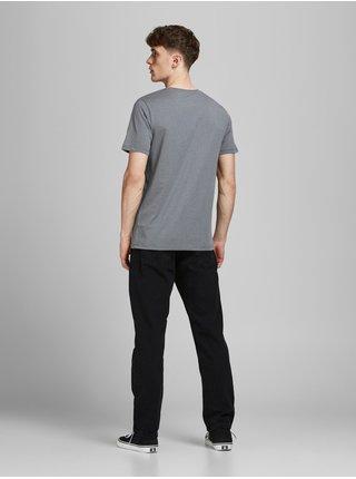 Černé straight fit džíny Jack & Jones Chris