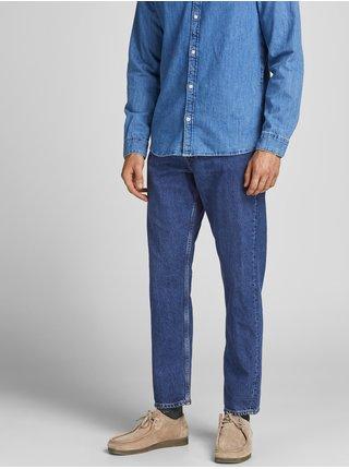 Modré straight fit džíny Jack & Jones Chris