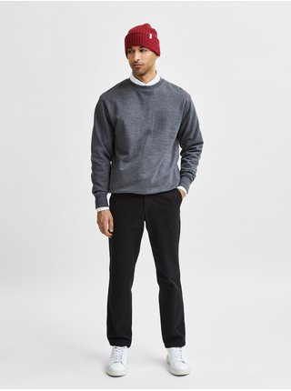 Čierne slim fit nohavice Selected Homme Miles