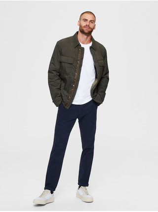 Chino nohavice pre mužov Selected Homme - tmavomodrá