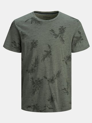 Šedé vzorované tričko Jack & Jones Cali