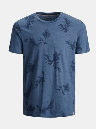 Modré vzorované tričko Jack & Jones Cali