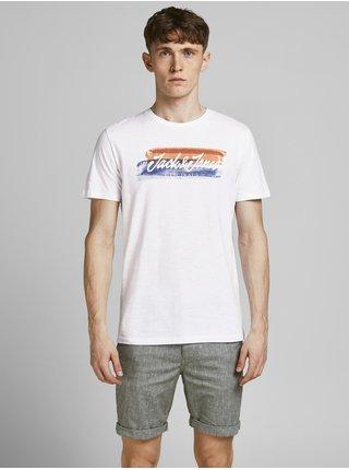 Biele tričko s potlačou Jack & Jones Cali
