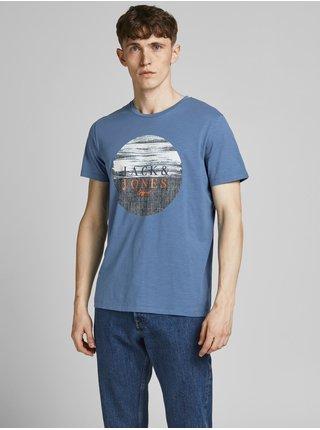Modré tričko s potiskem Jack & Jones Cali