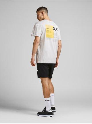 Světle šedé tričko s potiskem Jack & Jones Fix