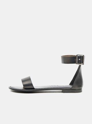 Čierne kožené sandálky VERO MODA Elsa