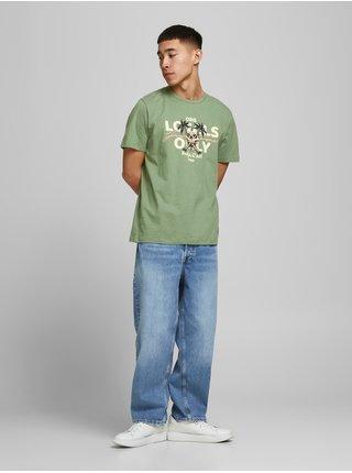 Zelené tričko s potiskem Jack & Jones Summerskull