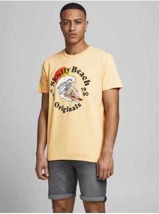 Žlté tričko s potlačou Jack & Jones Summerskull