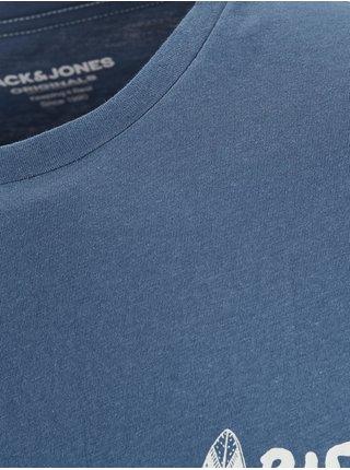 Modré tričko s potlačou Jack & Jones Streams