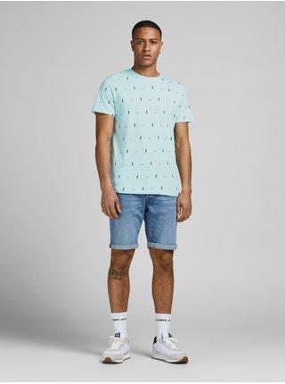 Svetlomodré vzorované tričko Jack & Jones Poolside