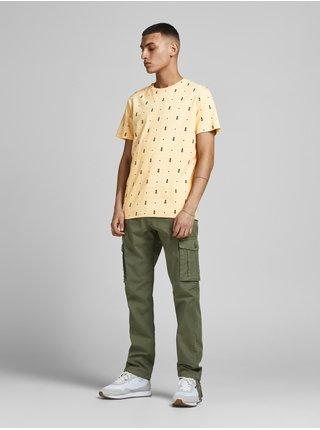 Žluté vzorované tričko Jack & Jones Poolside