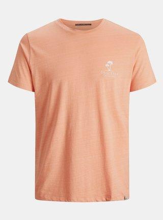 Oranžové tričko s potiskem Jack & Jones Poolside