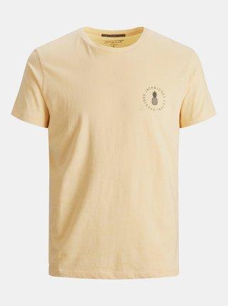 Žluté tričko s potiskem Jack & Jones Poolside
