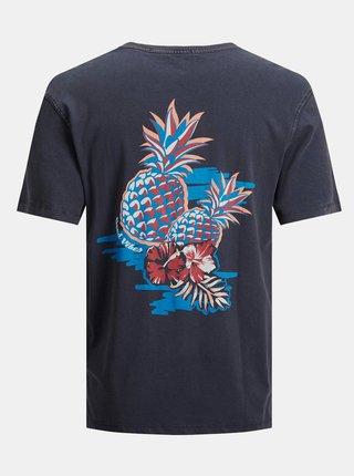 Tmavě modré tričko s potiskem Jack & Jones Tropicana