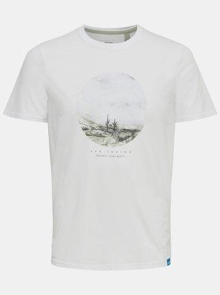 Bílé tričko s potiskem ONLY & SONS Tyler