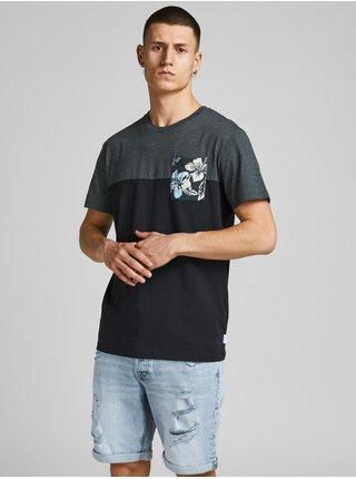 Tmavě modré tričko s potiskem Jack & Jones Hazy