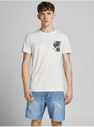 Krémové tričko s potiskem Jack & Jones Hazy