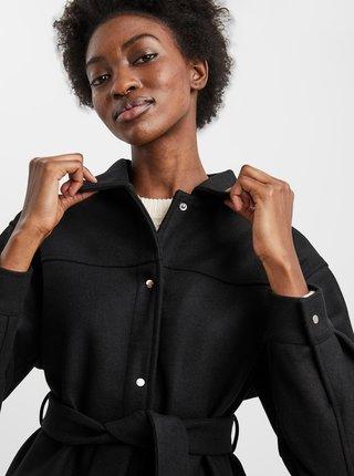 Černá košilová bunda s páskem VERO MODA Vince