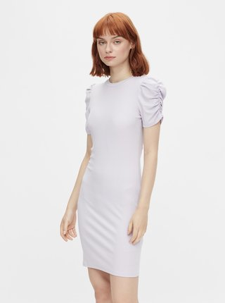 Světle fialové pouzdrové šaty Pieces Lunna