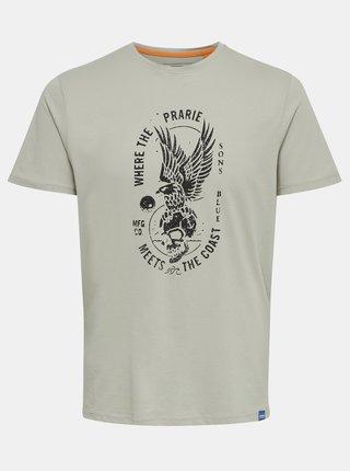 Šedé tričko s potiskem ONLY & SONS Turner
