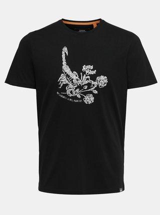 Černé tričko s potiskem ONLY & SONS Turner