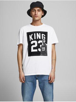 Biele tričko s potlačou Jack & Jones Legends