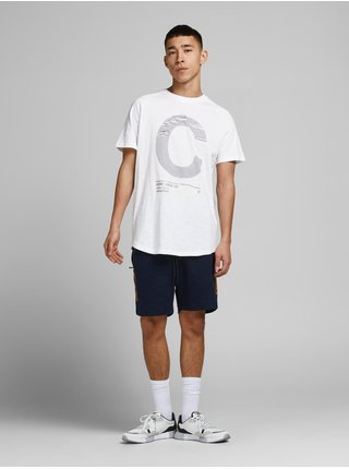 Biele tričko s potlačou Jack & Jones Number