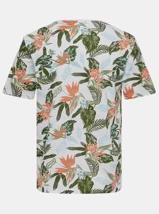 Tričká s krátkym rukávom pre mužov ONLY & SONS - biela, zelená