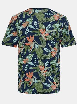 Zeleno-modré vzorované tričko ONLY & SONS Klop