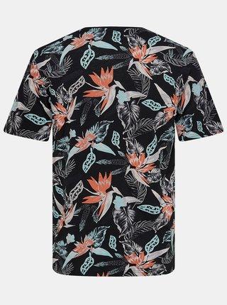 Čierne vzorované tričko ONLY & SONS Klop