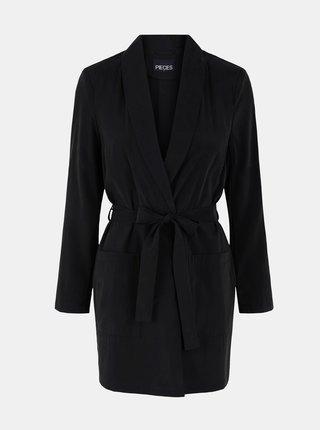 Kabáty pre ženy Pieces - čierna