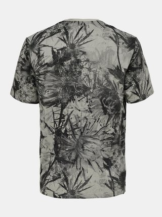 Šedé vzorované tričko ONLY & SONS Troy