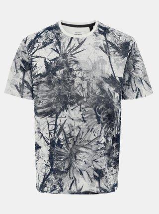 Tmavě modré vzorované tričko ONLY & SONS